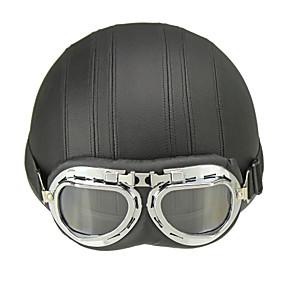 cheap Motorcyle Helmets-Half Helmet Adults Unisex Motorcycle Helmet  Helmet with Goggles