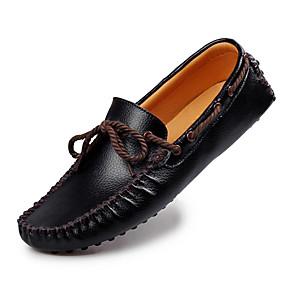 baratos Sapatos Náuticos Masculinos-Homens Mocassim Pele Outono / Inverno Sapatos de Barco Preto / Branco / Marron / Festas & Noite / Festas & Noite
