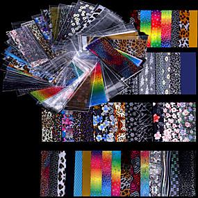 hesapli folyo Kağıt-48 pcs Tırnak Folyo Çizgi Bant tırnak sanatı Manikür pedikür Moda Günlük / Folyo sıyırma bandı