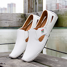 4033b4a6d081fa Men s Light Soles Microfiber Spring   Summer Comfort Sandals Walking Shoes  White   Black   Blue
