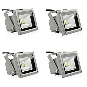 halpa Valonheittimet-4kpl 10 W LED-valonheittimet / Lawn Valot Vedenkestävä / Koristeltu Lämmin valkoinen / Kylmä valkoinen 85-265 V Ulkovalaistus 1 LED-helmet