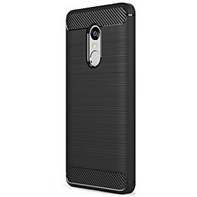 levne Pouzdra telefonu-ASLING Carcasă Pro Xiaomi Matné Zadní kryt Jednobarevné Měkké Uhlíkové vlákno pro Xiaomi Redmi Note 4X / Xiaomi Redmi Note 4