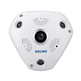 Χαμηλού Κόστους Κάμερες IP-escam® καρχαρία qp180 hd 960p h.264 1.3mp πανοραμική φωτογραφική μηχανή υπέρυθρης υποδοχής φωτογραφικών μηχανών ψαρέματος 360 °