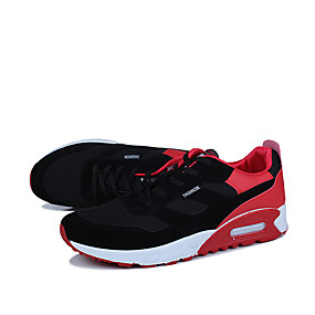 cheap Running Shoes-Men's Rubber Spring / Fall Comfort Athletic Shoes Black / White / Black / Red / Black / Blue