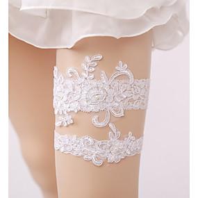 abordables Ligas para Novia-Encaje Boda Liga de la boda Con Perla de Imitación Ligas