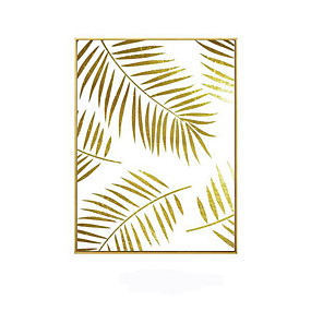 cheap Trending-Gold Botanicals Prints Minimalism Framed Wall Art