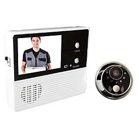 billige Dørtelefonssystem med video-gw601b-2bh 3v / 0,6w 2,4 tommers skjerm dør-telefonsystemer for husdørens intercom-dørklokke