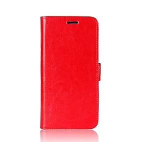 levne Pouzdra telefonu-Carcasă Pro Xiaomi Redmi Poznámka 5A / Redmi 5 Plus Peněženka / Pouzdro na karty / se stojánkem Celý kryt Jednobarevné Pevné PU kůže pro Redmi Note 5A / Xiaomi Redmi Note 4X / Redmi 5A / Xiaomi Mi 6