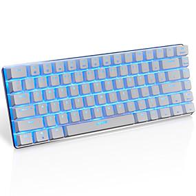 billiga Dagliga erbjudanden-AJAZZ AK33 USB-kabel mekaniska tangentbord gaming tangentbord Spel Självlysande monochromatic bakgrundsbelysning 82 pcs Keys