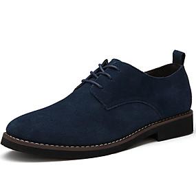 baratos Oxfords Masculinos-Homens Sapatos de camurça Couro Sintético Primavera / Outono Negócio Oxfords Preto / Azul / Marron / Combinação / Ao ar livre / Sapatos Confortáveis / EU40