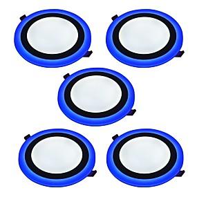billige Innfelte LED-lys-JIAWEN 9 W 45 LED perler Dekorativ Panellys Kjølig hvit Blå 85-265 V