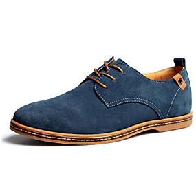 baratos Oxfords Masculinos-Homens Sapatos formais Microfibra Outono / Inverno Oxfords Preto / Verde / Camel / Casamento / Festas & Noite / Cadarço / Festas & Noite / Sapatos de camurça