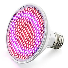 abordables Lampe de croissance LED-1pc 6 W 6.2 W Ampoule en croissance 800-850 lm E26 / E27 200 Perles LED SMD 2835 Rouge Bleu 85-265 V / 1 pièce / RoHs / FCC