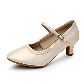 billige Moderne sko-Dame Moderne Syntetisk Høye hæler Innendørs Kustomisert hæl Svart Sølv Beige Brun Kan spesialtilpasses