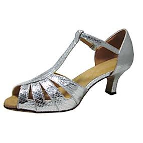 1eb406813d7b Γυναικεία Παπούτσια χορού λάτιν Συνθετικό Πέδιλα Προσαρμοσμένο τακούνι  Παπούτσια Χορού Μαύρο και Χρυσό / Ασημί / Κόκκινο / Εσωτερικό