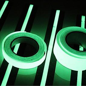 economico Office Supply & decorazioni-400 * 2cm incandescenza in scuro luminoso nastro luminoso verde adesivo fluorescente adesivo nastro luminoso decorazione decalcomania per