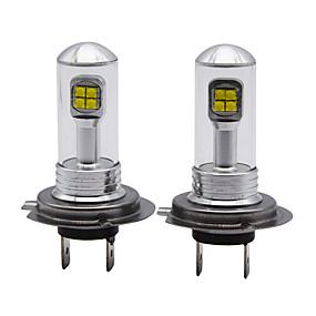 お買い得  車用ヘッドライト-超明るい明度h7 foglightロービームヘッドライト交換用電球5500k-6000k白色