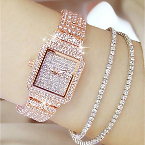 cheap Summer 2019 Trends for Her-Women's Japanese Quartz Stainless Steel Silver / Gold / Rose Gold 30 m Casual Watch Analog Ladies Charm Fashion - Gold Silver Rose Gold