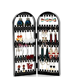 cheap Storage & Organization-Earring Necklace Bracelet Jewelry Packaging Hanger Organizer Foldable Storage Holder Display Stand Rack Gift