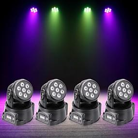 povoljno Glazbeni instrumenti-U'King 4kom LED svjetlima pozornice DMX 512 / Glavni- pomoćni / Zvukom aktivirana rasvjeta 70 W za Outdoor / Zabava / Stage Profesionalna
