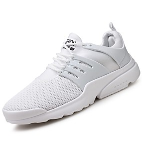 cheap Running Shoes-Men's Light Soles TPU / Mesh Fall / Winter Comfort Athletic Shoes Running Shoes White / Black / Red