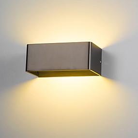 billige Vegglamper-moderne 6w led wall sconce innendørs hall soverom spot light metal dekorative belysning