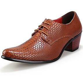 voordelige Wijdere maten schoenen-Heren Comfort schoenen Synthetisch Herfst / Winter Oxfords Zwart / Rood / Bruin / Feesten & Uitgaan / Feesten & Uitgaan
