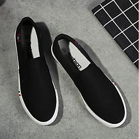 cheap Men's Sneakers-Men's Comfort Shoes Canvas Summer Sneakers White / Black / Blue / EU40