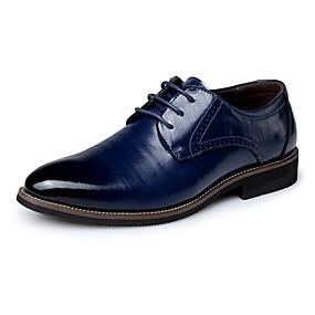halpa Miesten Oxford-kengät-Miesten Comfort-kengät Nahka Kevät / Syksy Liiketoiminta Oxford-kengät Laivaston sininen / Vaalean ruskea / Tumman ruskea / Juhlat / Juhlat / EU40