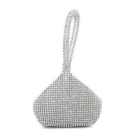 お買い得  靴&バッグ & ジュエリー & 腕時計-女性用 バッグ シルク イブニングバッグ パール装飾 ゴールド / ブラック / シルバー