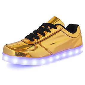 baratos Tênis Masculino-Homens Sapatos Confortáveis Couro Ecológico Primavera / Outono Tênis Dourado / Prata
