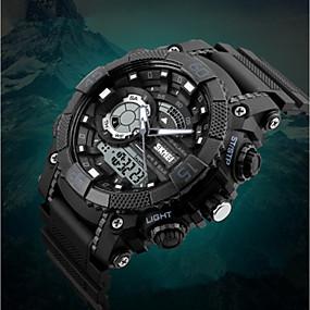 ราคาถูก -0.1-SKMEI สำหรับผู้ชาย เด็กผู้ชาย นาฬิกาแนวสปอร์ต นาฬิกาดิจิตอล ดิจิตอล PU Leather ดำ 50 m กันน้ำ ปฏิทิน นาฬิกาจับเวลา อะนาล็อก-ดิจิตอล ความหรูหรา ไม่เป็นทางการ แฟชั่น - ส้ม สีเทา ฟ้า / noctilucent