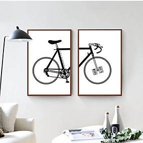 cheap Trending-Romance Oil Painting Wall Art,Aluminum Alloy Material With Frame For Home Decoration Frame Art Bedroom Indoor