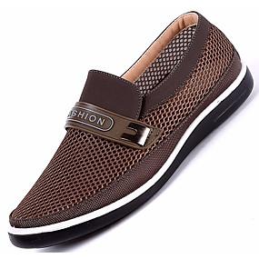 baratos Sapatilhas e Mocassins Masculinos-Homens Sapatos Confortáveis Com Transparência Verão / Outono Sandálias Bege / Cinzento / Café / EU40