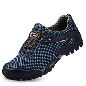cheap Men's Athletic Shoes-Men's Mesh Spring / Fall Comfort Athletic Shoes Hiking Shoes Dark Blue / Light Brown / Burgundy