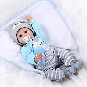 billige Legetøj-NPKCOLLECTION NPK DOLL Reborn-dukker Baby 22 inch Silikone Vinyl - livagtige Nuttet Håndlavet Børnesikker Ikke Giftig Smuk Børne Unisex / Pige Legetøj Gave / Forældre-barninteraktion / CE