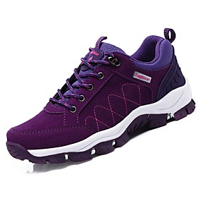 baratos Sapatos Esportivos Femininos-Mulheres Tênis Sem Salto Ponta Redonda Camurça Conforto Aventura Primavera / Outono Preto / Roxo / Fúcsia