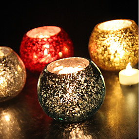 cheap Others-European Style / Modern / Contemporary Glass Candle Holders 1pc, Candle / Candle Holder