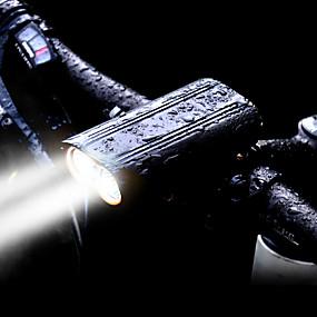 billige Sykkellykter og reflekser-Frontlys til sykkel LED Sykkellykter LED Sykling Vannavvisende, Sæt, Flere moduser Oppladbart Batteri 2400 lm Innebygd Li-batteridrevet Hvit Sykling