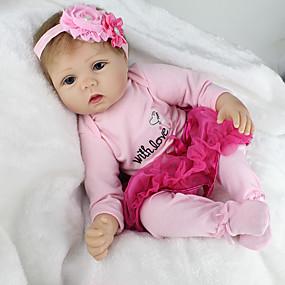 ราคาถูก ของเล่นสำหรับเด็ก-NPKCOLLECTION ตุ๊กตา NPK Reborn Dolls ตุ๊กตาสาว เด็กผู้หญิง ตุ๊กตาทารกเกิดใหม่ 22 inch ซิลิโคน ไวนิล - เหมือนจริง น่ารัก ทำด้วยมือ Child Safe Non Toxic การจำลอง เด็ก เด็กผู้หญิง Toy ของขวัญ / CE