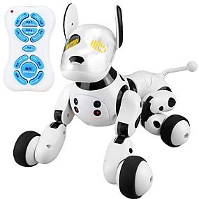 hesapli Robotlar, Canavarlar ve Uzay Oyuncakları-2.4G Wireless Remote Control Smart Dog Elektronik Evcil Hayvanlar Köpekler Hayvan şan Dans Yürüyüş Sınıf ABS Plastik Genç Erkek Genç Kız Oyuncaklar Hediye