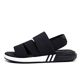baratos Sandálias Masculinas-Homens Sapatos Confortáveis Tricô Primavera / Outono Sandálias Preto / Casual