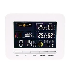 billige Hjemmeautomatisering og underholdning-smart termometer mottaker alarm klokke temperatur og fuktighets sensor hygrometer 1pack LCD på / av innendørs kontor kjøkken hjemme utendørs