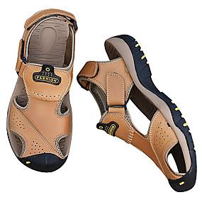5a08777e3 رخيصةأون أحذية الرجال-للرجال جلد صيف رياضي / مريح صنادل كوفي / بني فاتح /