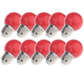 billige Globepærer med LED-YouOKLight 10pcs 3W 200lm E26 / E27 LED-globepærer 8 LED perler Dyp Led Dekorativ Gul Blå Rød 220-240V