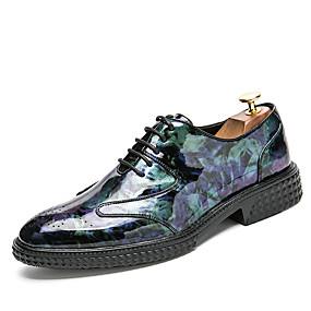hesapli Erkek Oxfordları-Erkek Ayakkabı Nappa Leather Yaz İş / Günlük Oxford Modeli Yürüyüş Günlük için Siyah / Mor / Mavi