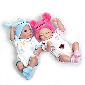 povoljno Igračke-NPKCOLLECTION NPK DOLL Autentične bebe Djevojka lutka Za ženske bebe 10 inch Cijeli silikon tijela Silikon Vinil - novorođenče vjeran Sladak Hand Made Sigurno za djecu Non Toxic Dječjom Uniseks