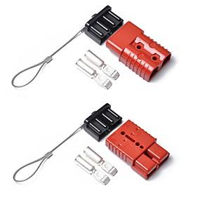 ieftine Frankfurt International Auto Accessories Show-2 buc roșu conector pentru conector 175 amp 175a remorcă baterie dublă baterie rapidă cu capac pentru caravană 12v 24v 175a