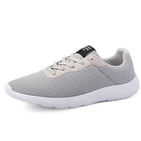 voordelige Damessneakers-Dames / Unisex Sneakers Lage hak Netstof Informeel / minimalisme Lente zomer Zwart / Grijs / Blauw