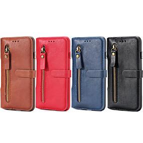 baratos Liquidação-Capinha Para Apple iPhone 6 Plus / iPhone 6 Carteira / Porta-Cartão / Com Suporte Capa Proteção Completa Sólido Rígida PU Leather para iPhone 6s Plus / iPhone 6s / iPhone 6 Plus